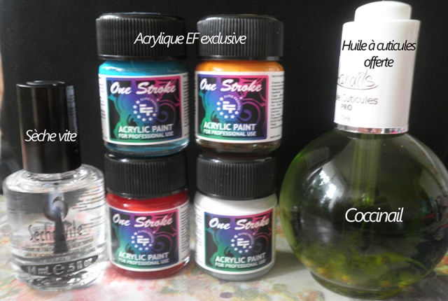 Acrylique EF exclusive et sèche vite (huile à cuticules offerte)