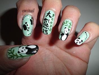 nail art WD panda