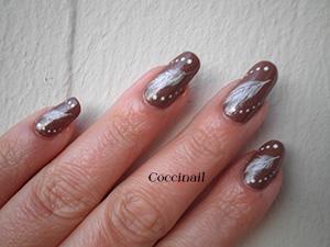Nail art plumes