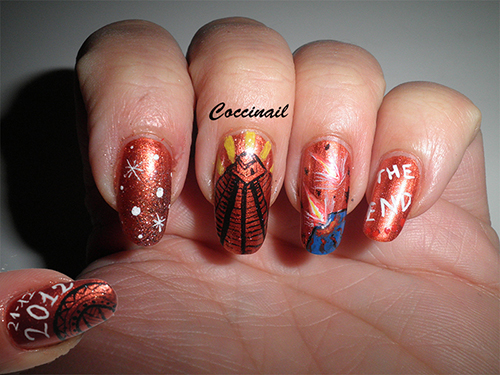 """Nail art """"This is the end"""""""