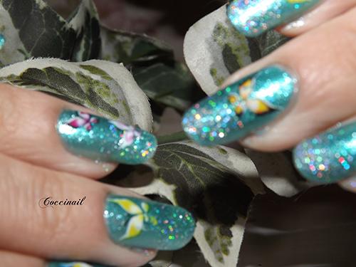 nail art WD papillons