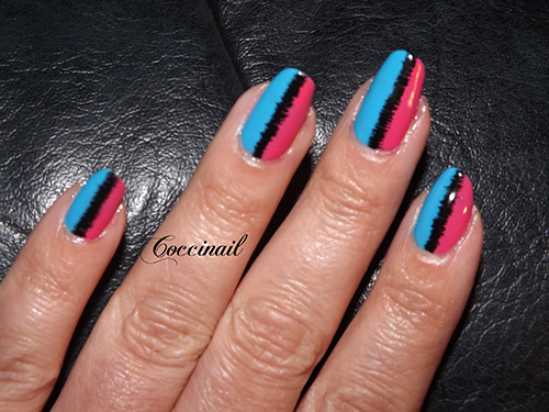 nail art effet couture