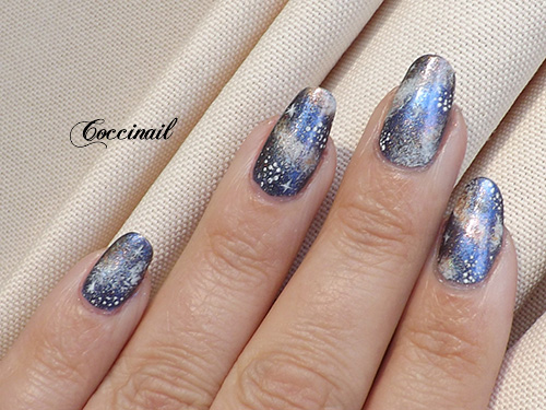 Nail art galaxie