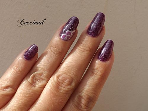 nail art fleur one stroke