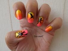 Nail art Sunset