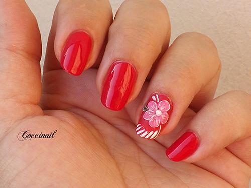 nail art fleur 3D