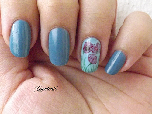 Nail art coquelicot aquarelle