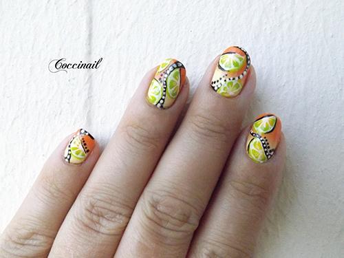 Nail art citronnade psychédélique