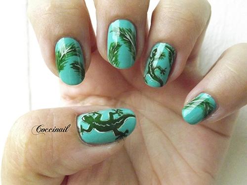 Nail art Margouillat