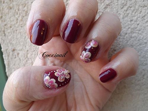 accent nail fleur