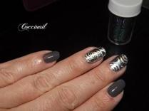 Nail art foil argenté