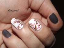 Nail art Fleurs de cerisier
