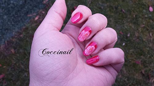 Nail art Hibiscus