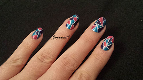 Nail art mosaique