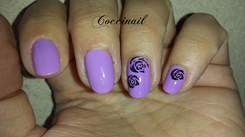 nail art roses stamping