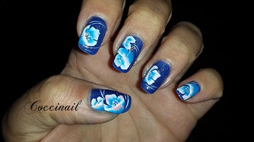 fleurs bleues one stroke
