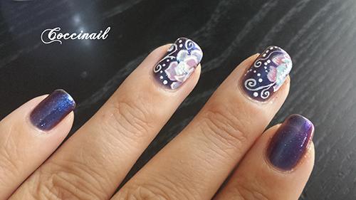 accent nail fleur et arabesque