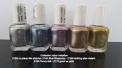 ESSIE - COLLECTION MRROR METALLICS - 10 euros pièce